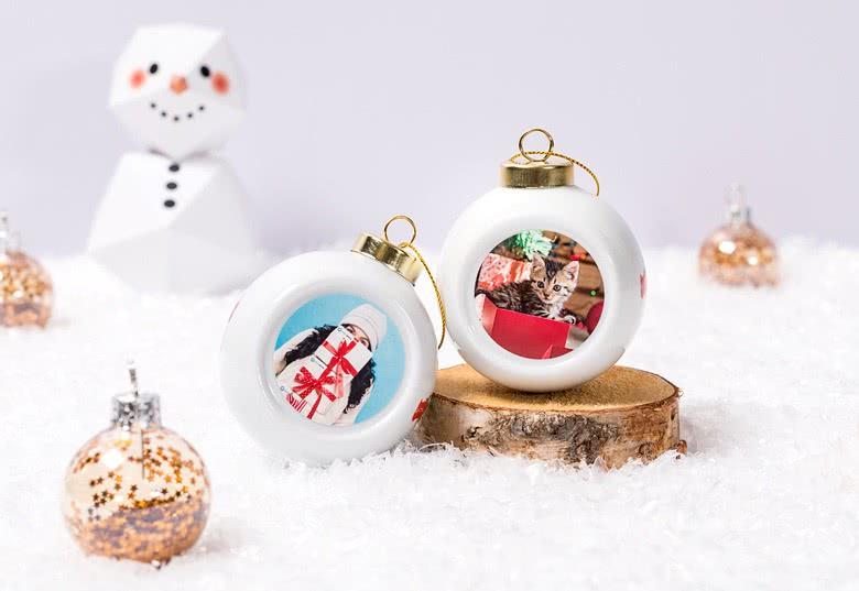 Betere Kerstbal met eigen foto ontwerpen. Bestel nu een unieke kerstbal. HI-14